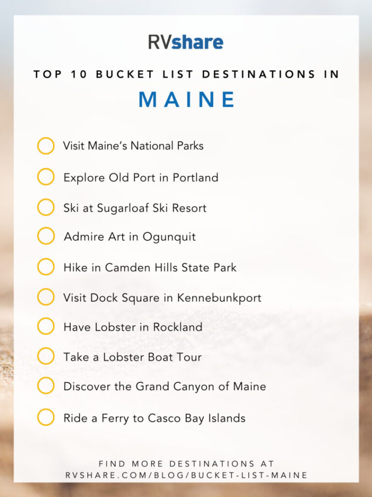 Maine bucket list