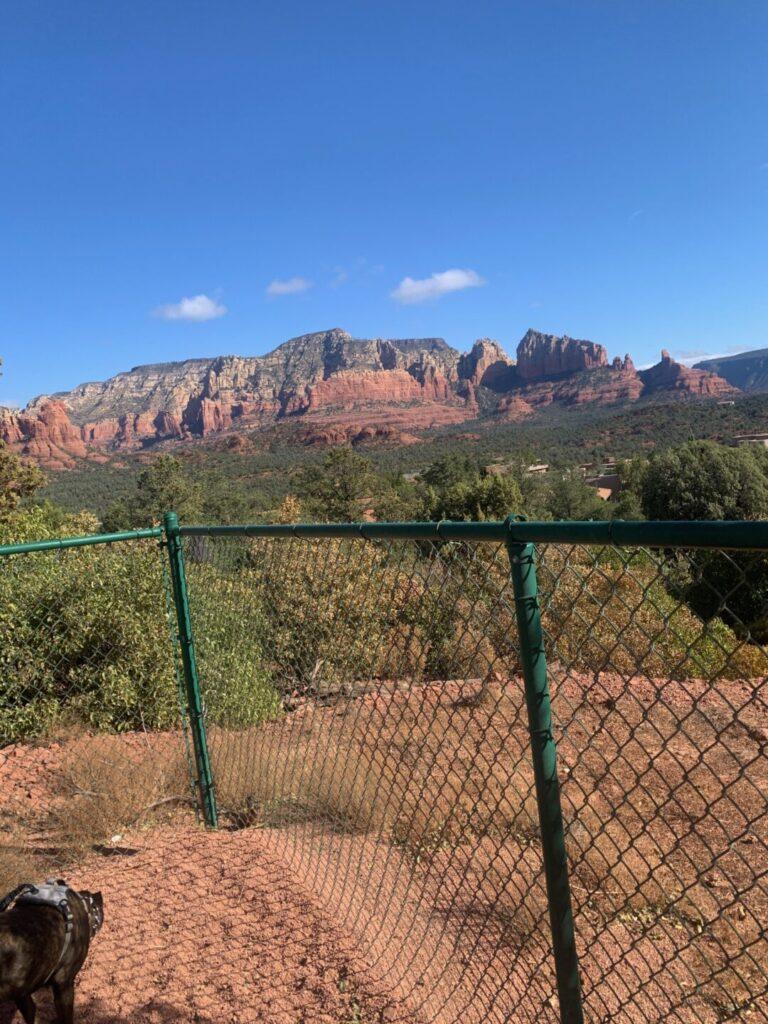 Mountains in a desert landscape