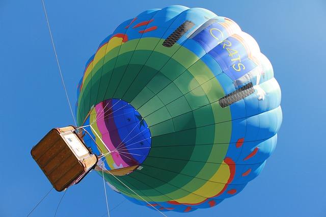 A hot air balloon rises at the Temecula Hot Air Balloon Festival