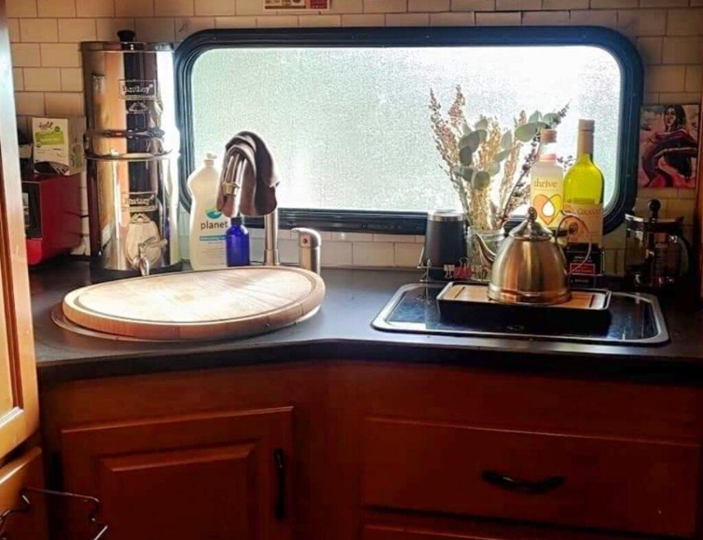 Kitchen of Class C RV