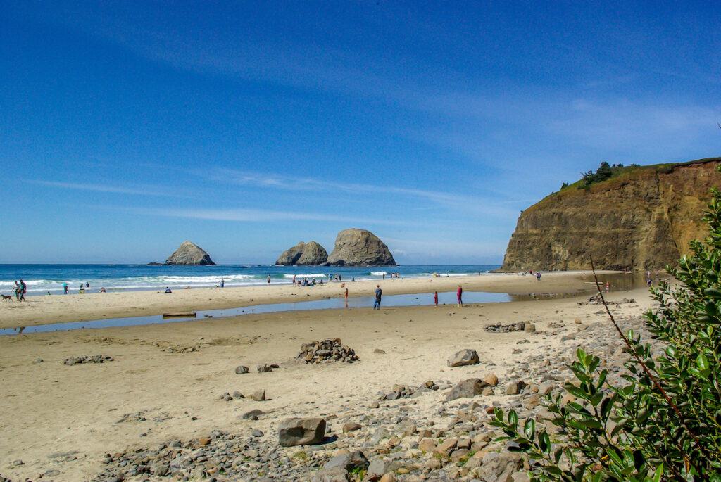 Rockaway Beach on the Oregon coast