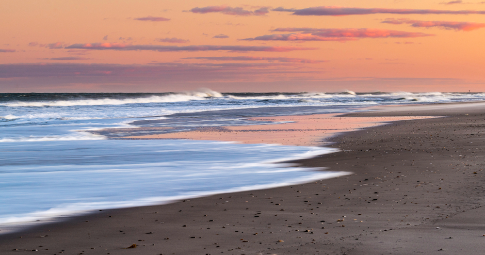 Sunset at the Jersey Shore's Island Beach State Park
