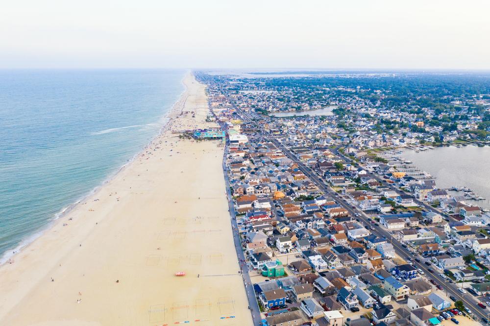 Point Pleasant Beach aerial view