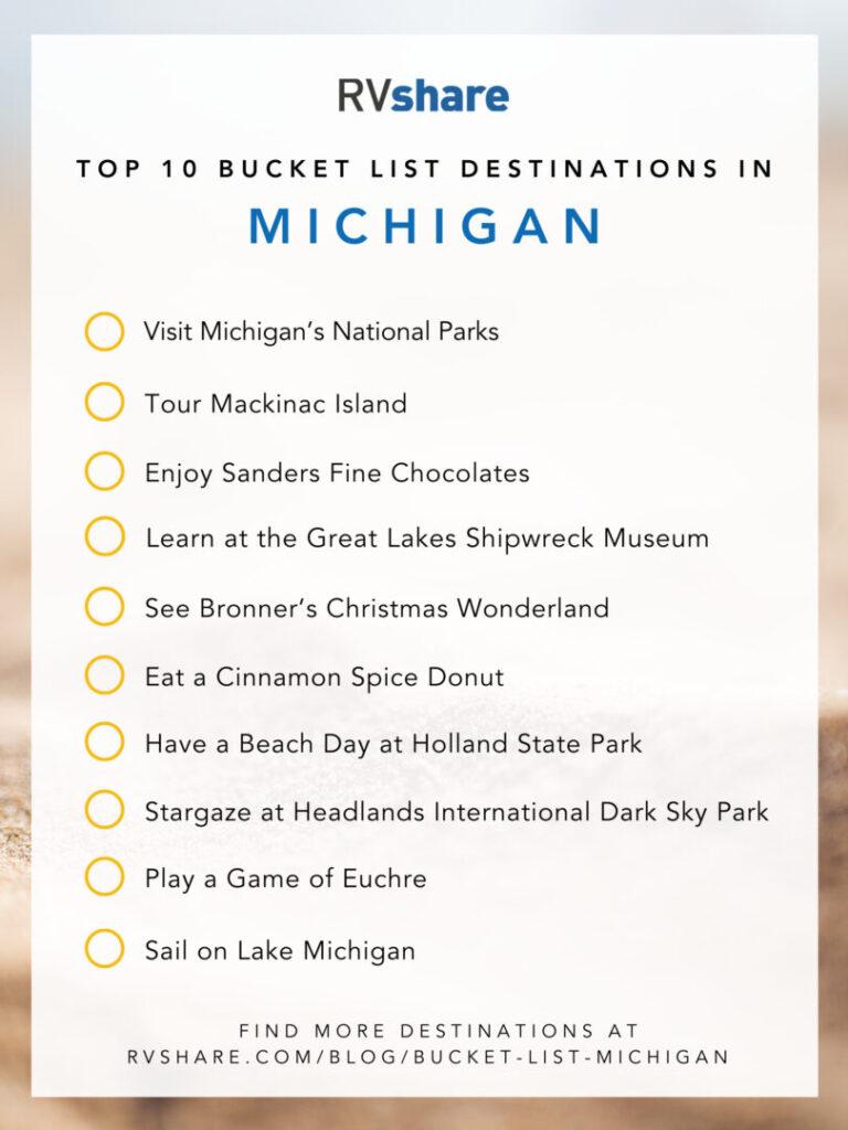 Michigan bucket list