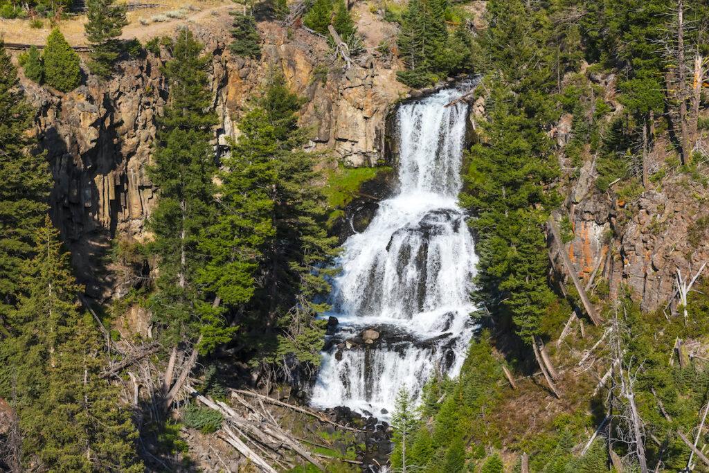 Undine falls in Yellowstone National Park, Wyoming