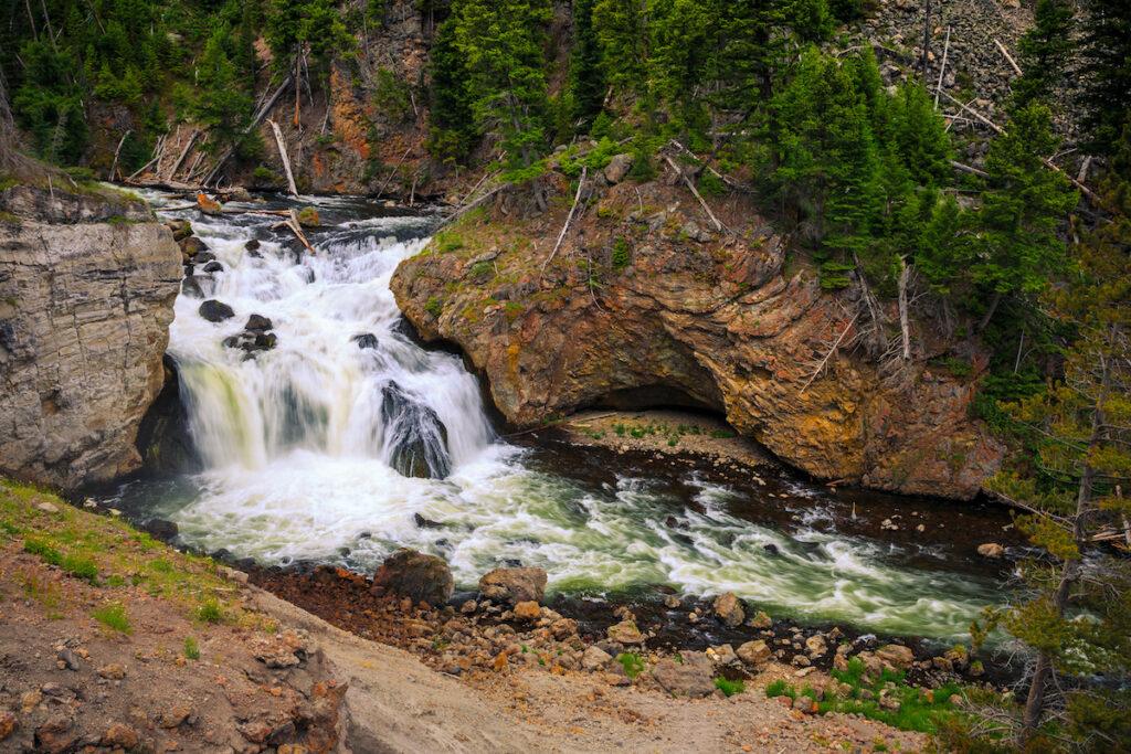 Firehole Falls Yellowstone National Park Wyoming