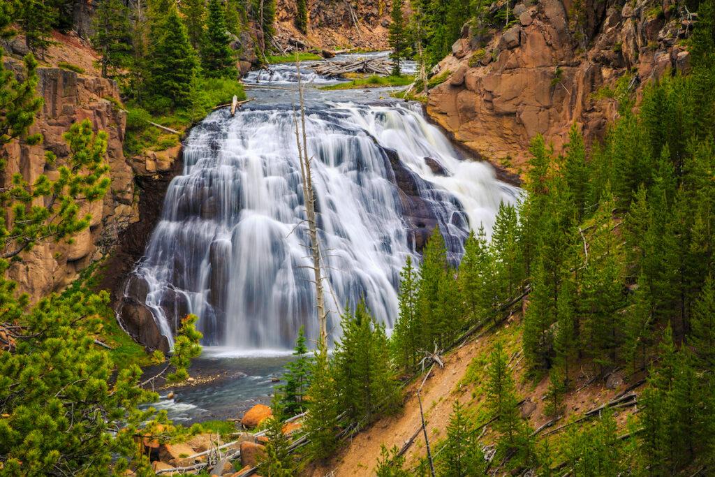 Gibbon Falls at Yellowstone National Park, Wyoming
