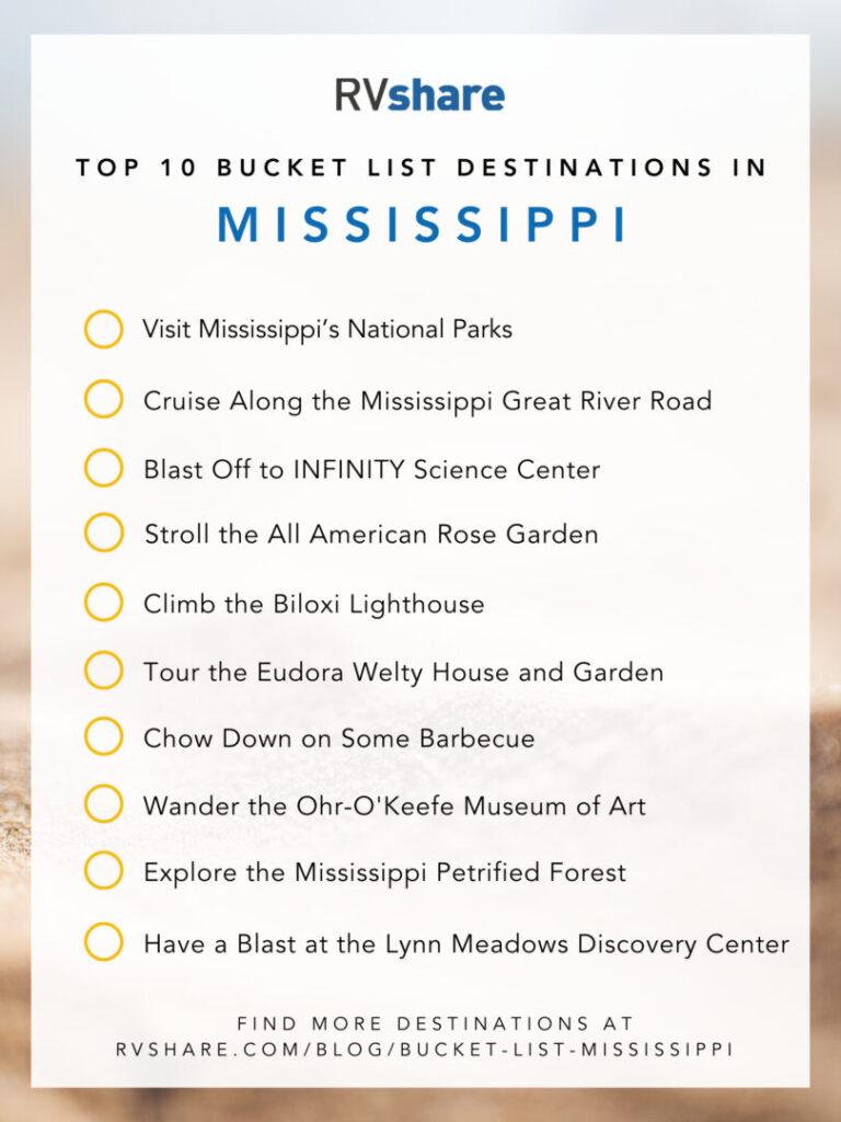 Mississippi Bucket List