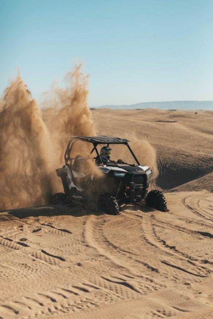 ATV on Sand Dunes