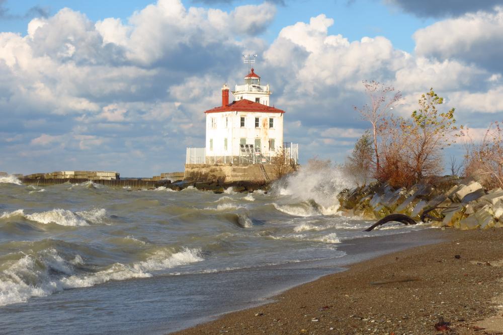 Lake Erie Lighthouse at Headlands Beach State Park