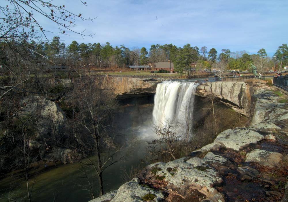Noccalula Falls in Gadsden, Alabama
