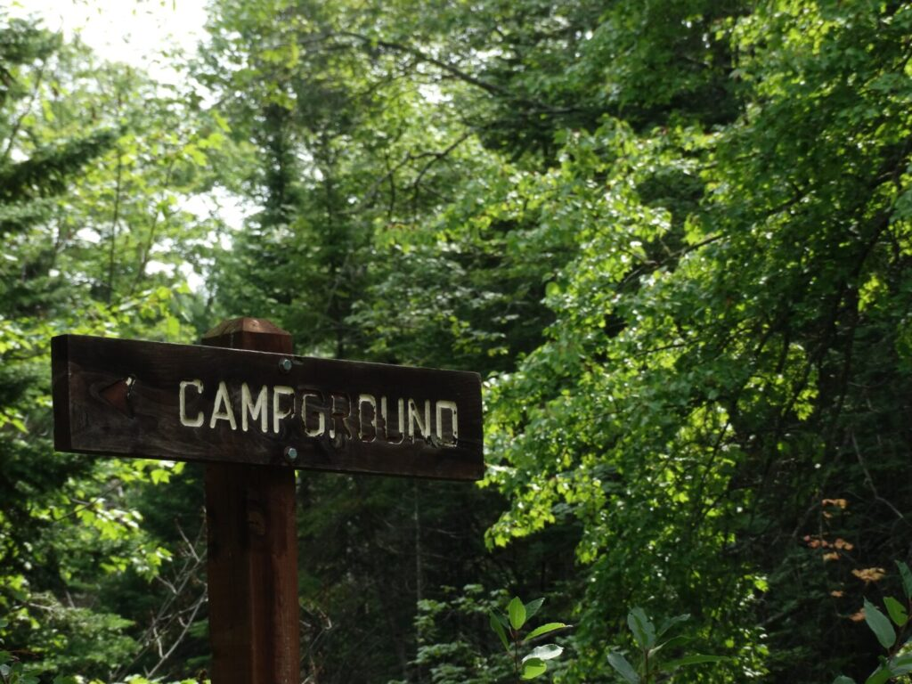 COE Campgrounds sign