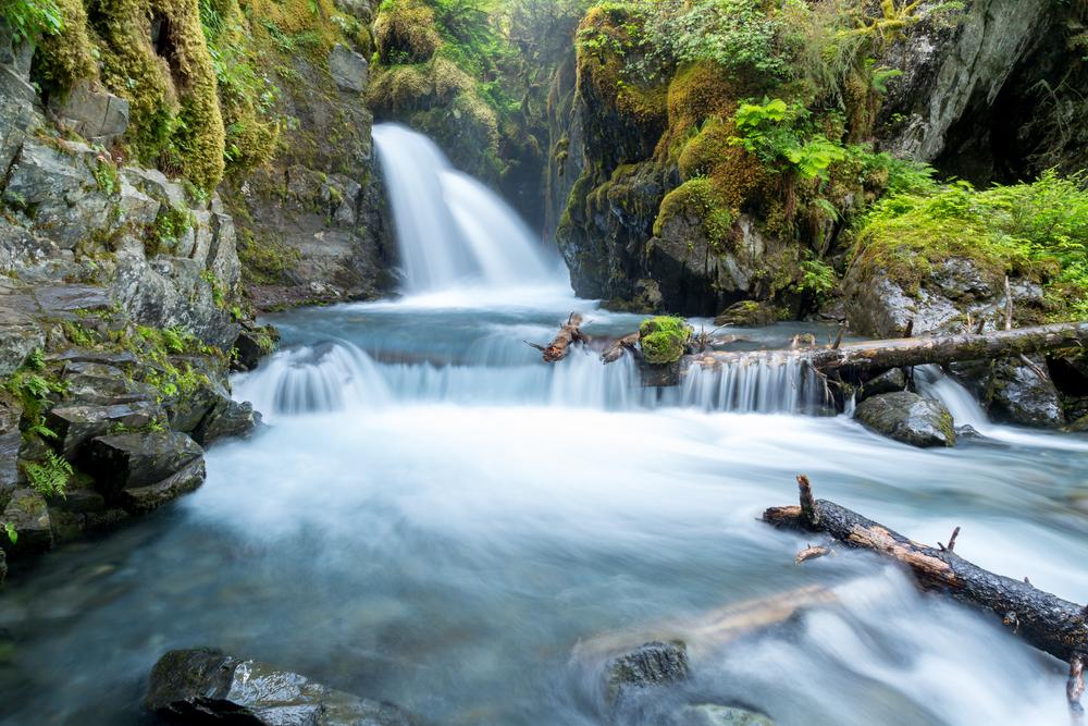 Virgin Creek Falls in Alaska