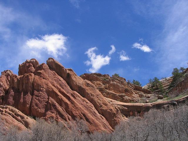 red rocks in Roxborough State Park