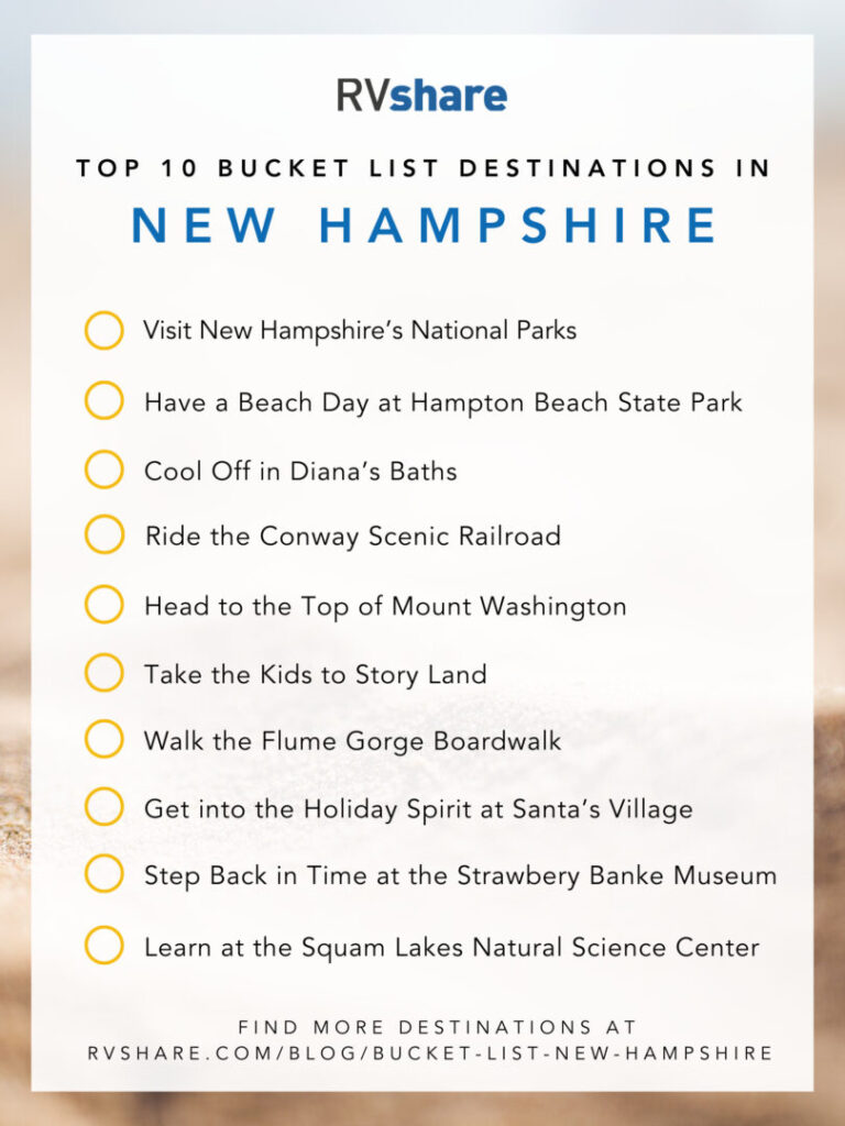 New Hampshire Bucket List