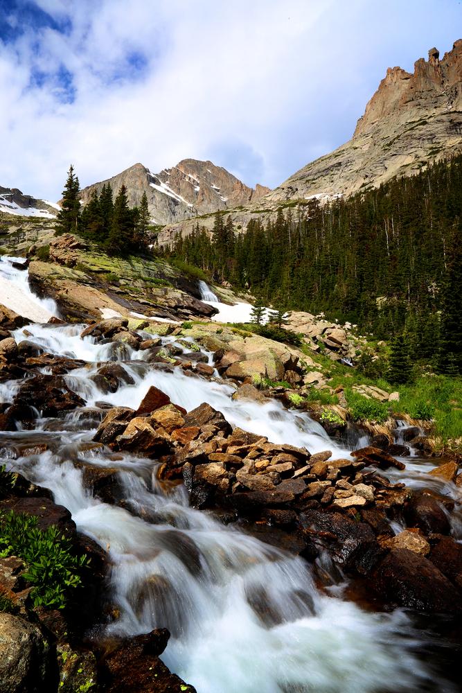Ribbon Falls Rocky Mountain National Park Colorado waterfall