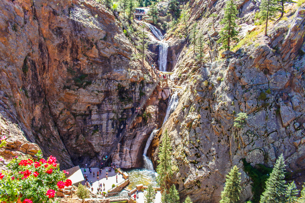 seven falls in Colorado