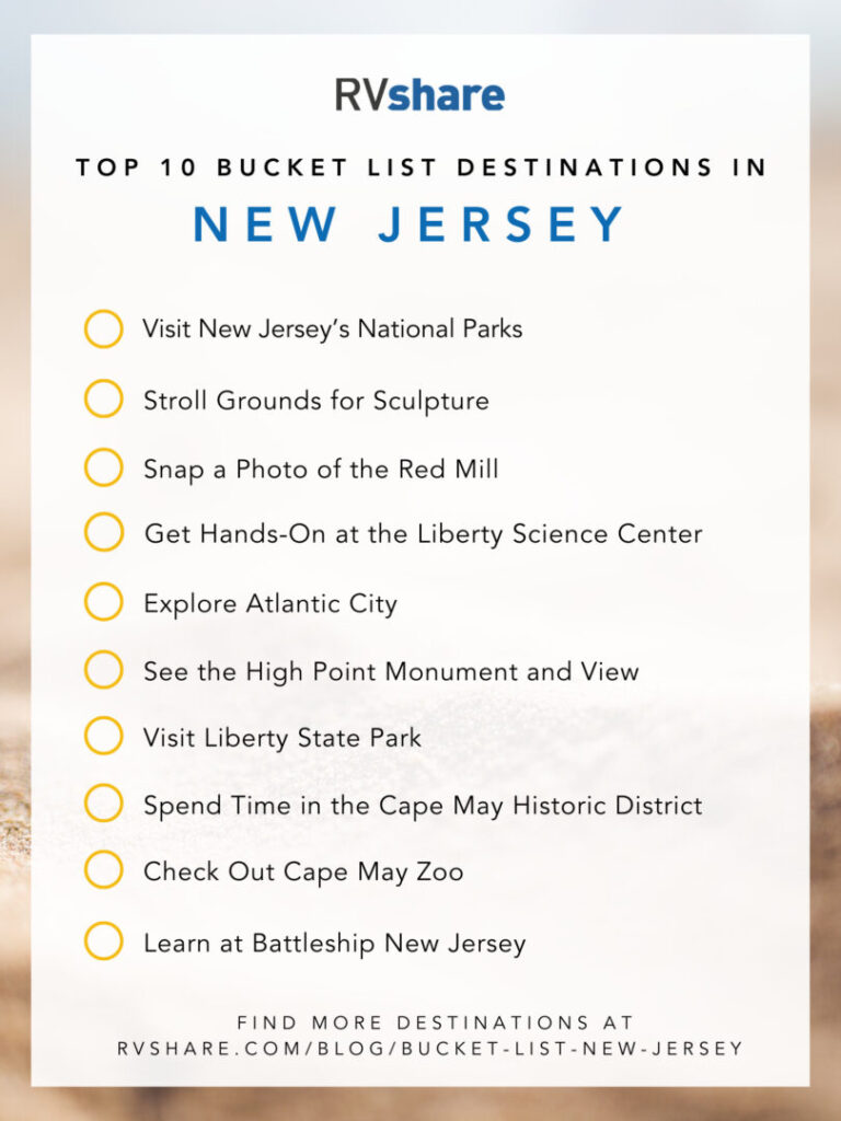 New Jersey Bucket List