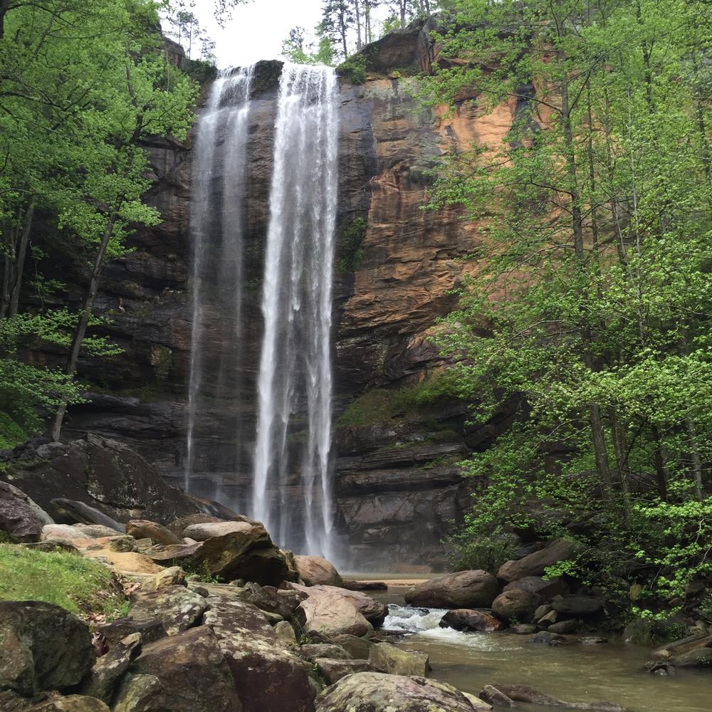 Toccoa Falls in Toccoa, Georgia