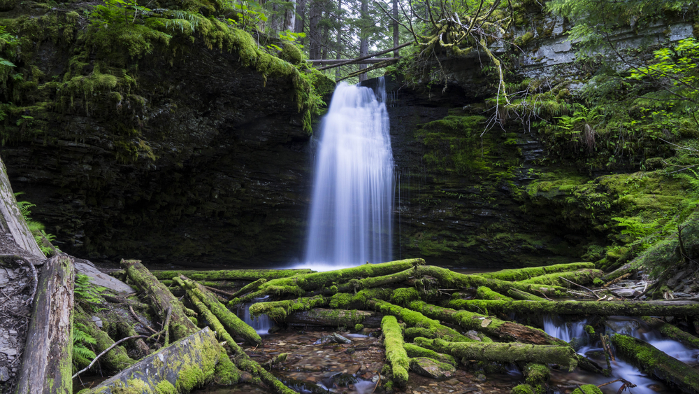 Shadow Falls located deep in the Panhandle National Forest in Idaho.