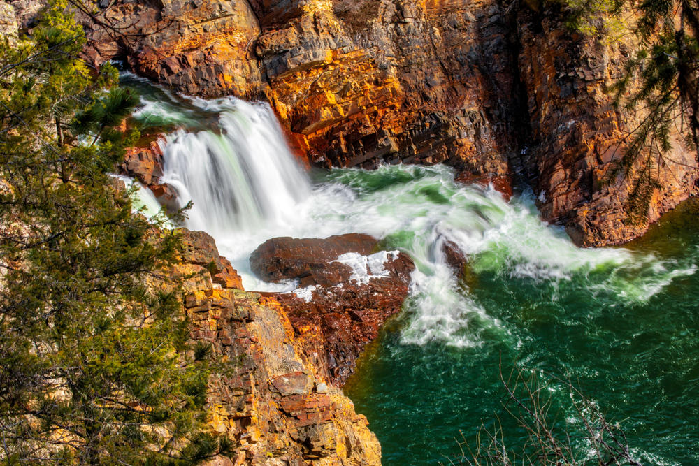 Moyie waterfalls on Spring day