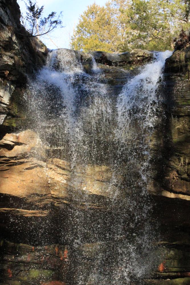 Ferne Clyffe Waterfall Frozen in Time