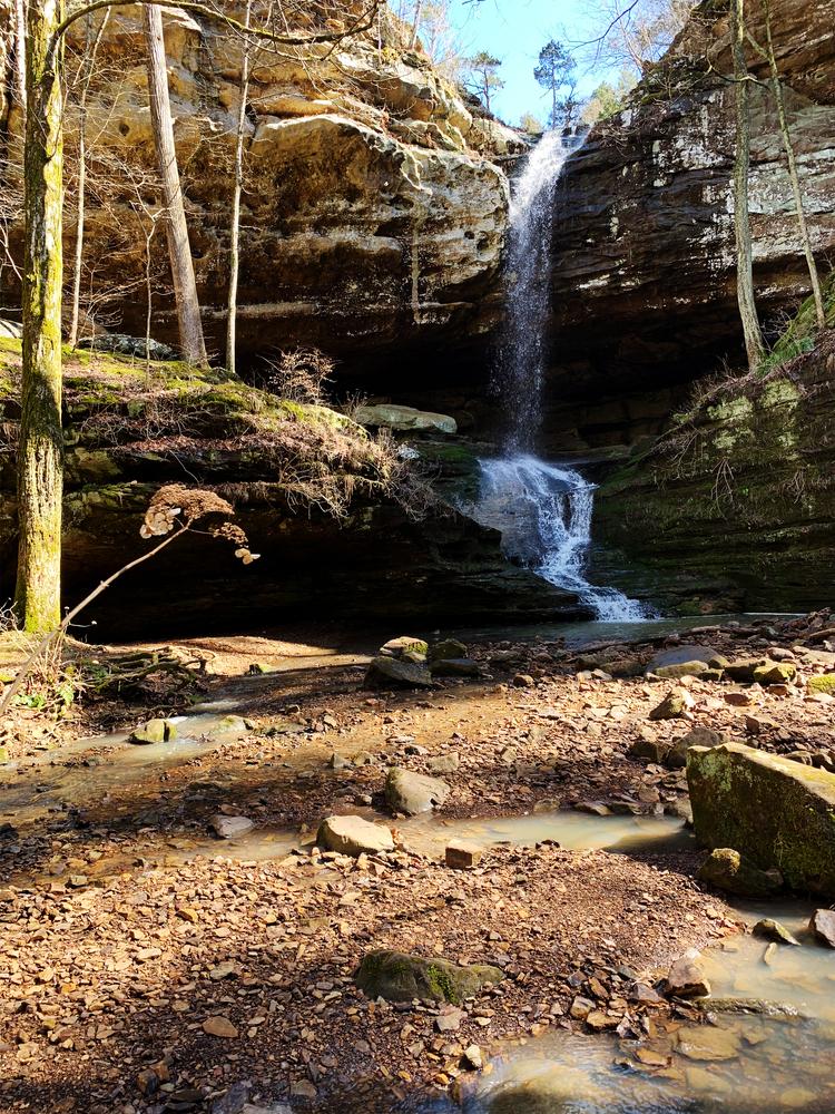 A beautiful waterfall in Southern Illinois