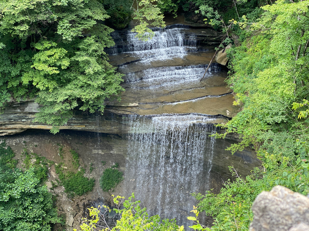 Waterfall at Clifty Falls State Park Indiana