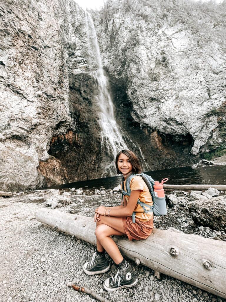FLittle girl enjoying Yellowstone National Park