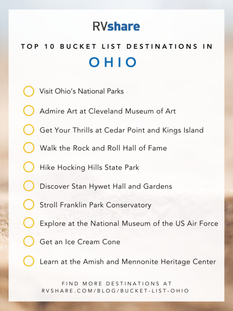 Ohio bucket list