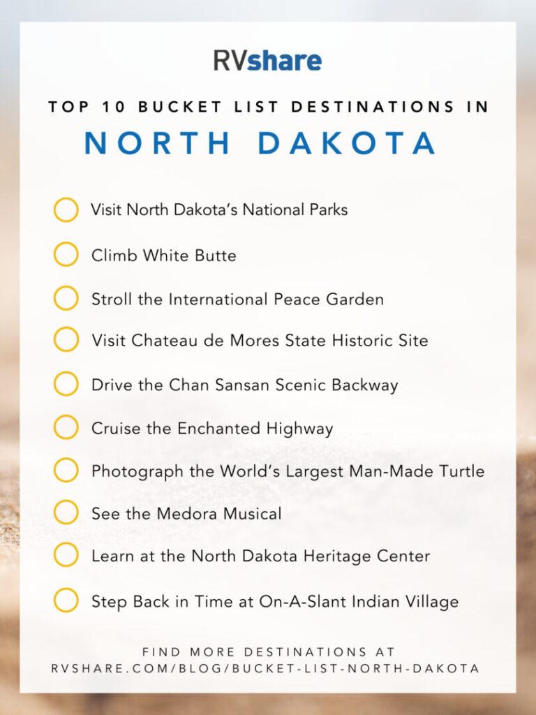 North Dakota bucket list