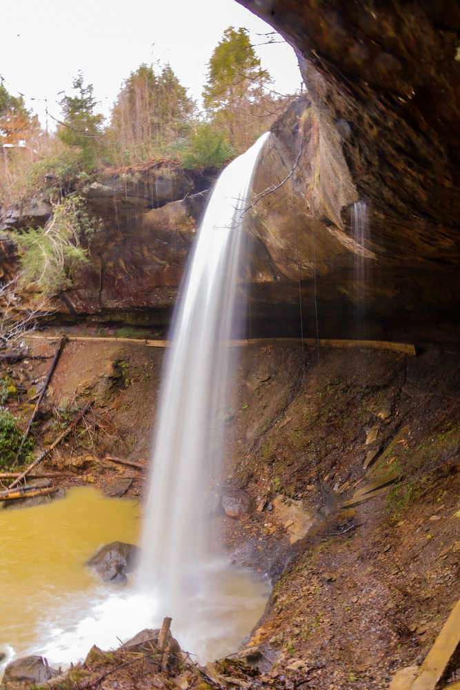 The cascades of Broke Leg Falls Scenic Area Kentucky