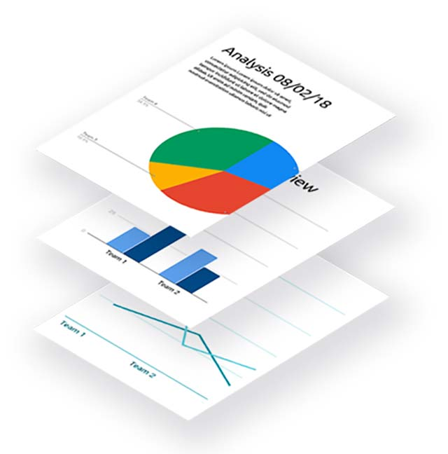Bancroft Digital page of analytics data stacked