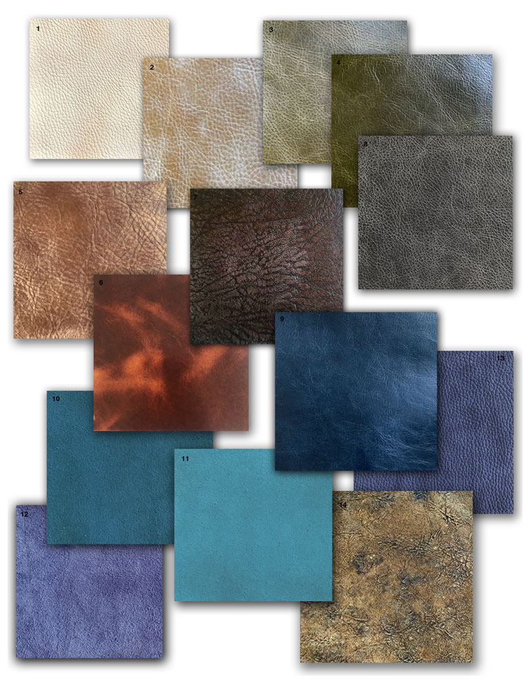 contemporary western trend leather swatches