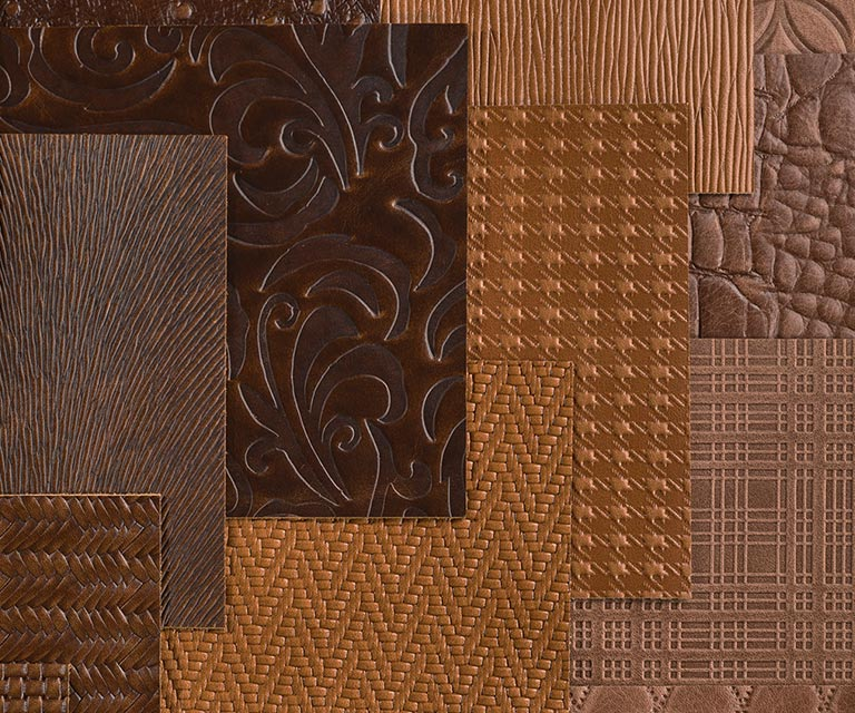 Cortina Embossed Leather Swatches