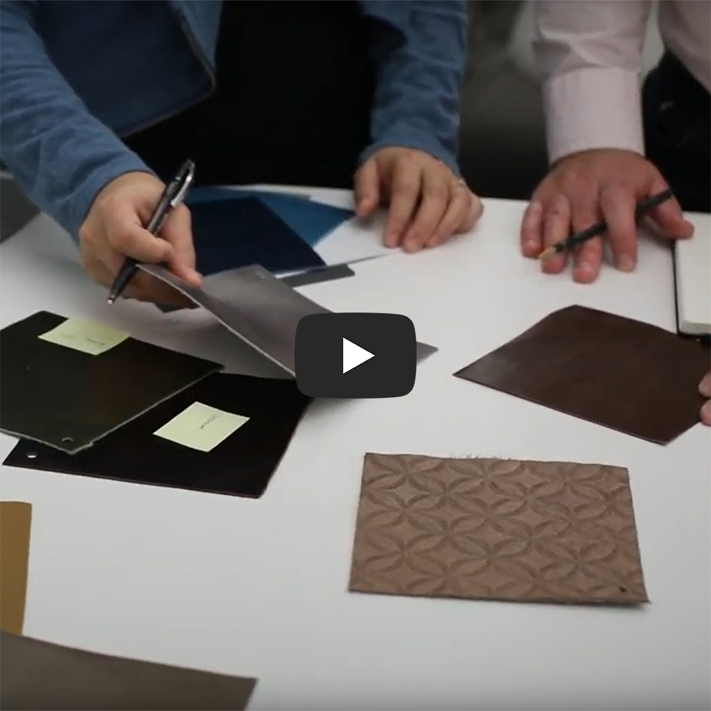 image of leather swatch selection youtube thumbnail