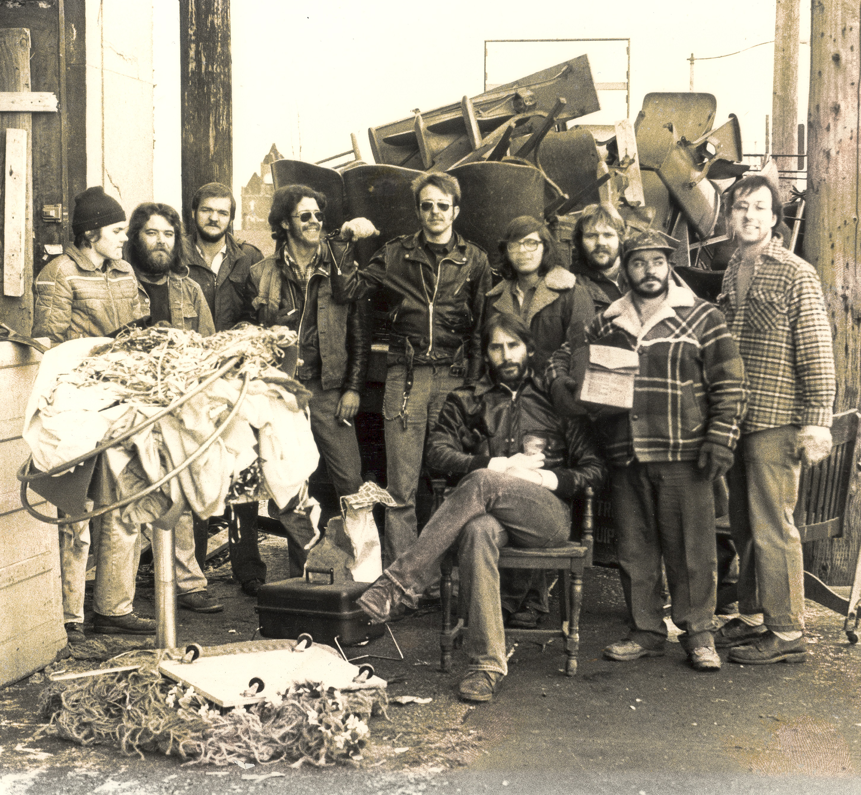 James Levin with Volunteers and Artists