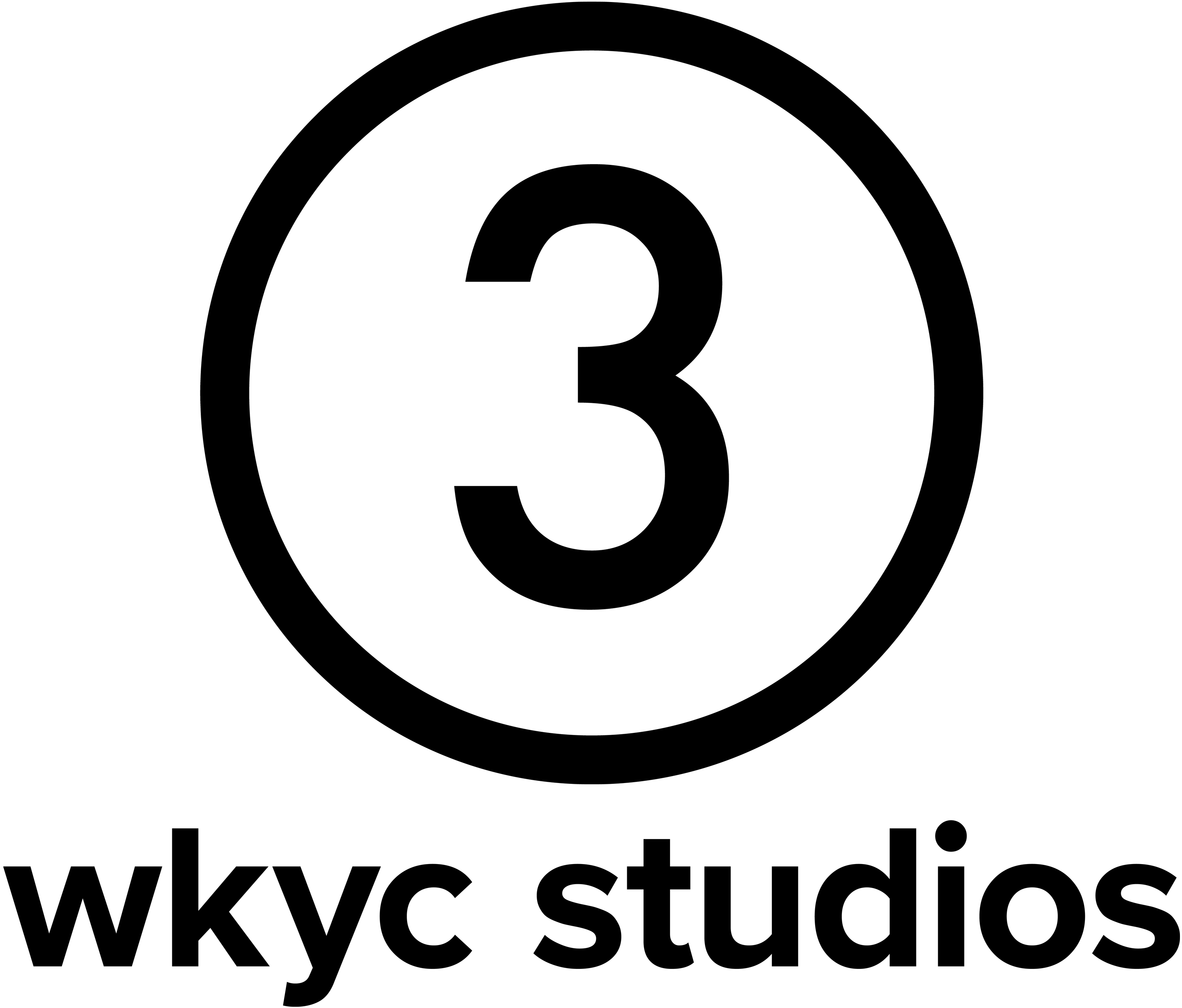 3 studios logo - Black