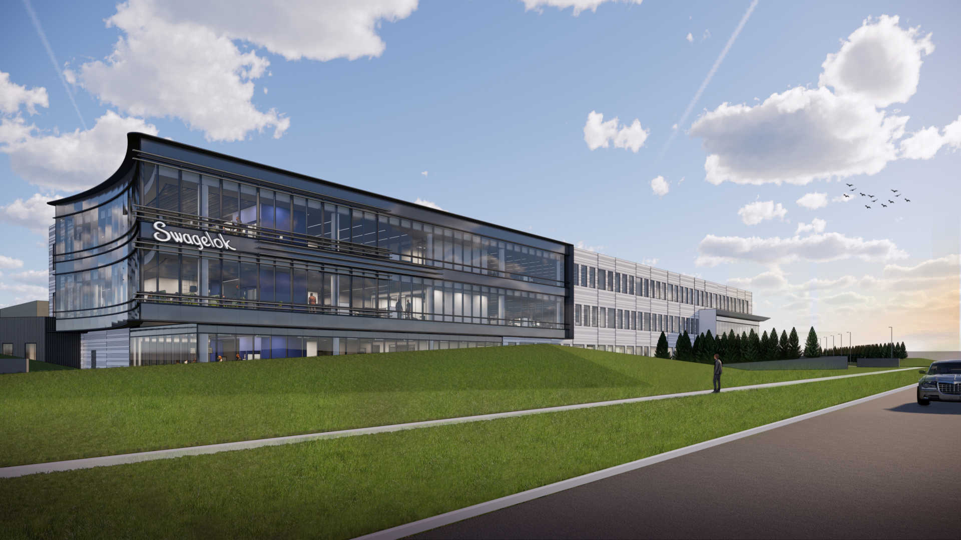 Rendering of Swagelok's new Headquarters