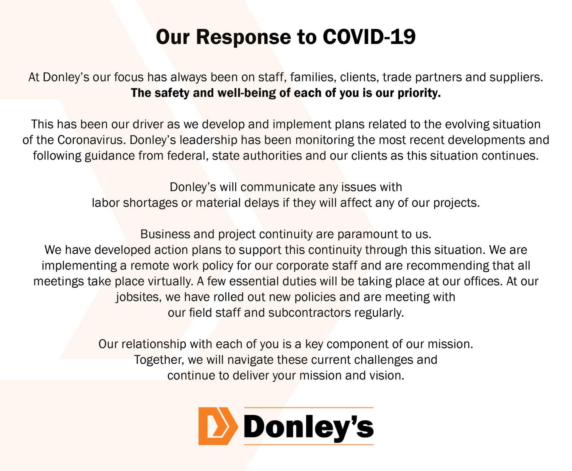 Donleys Social Media Announcement