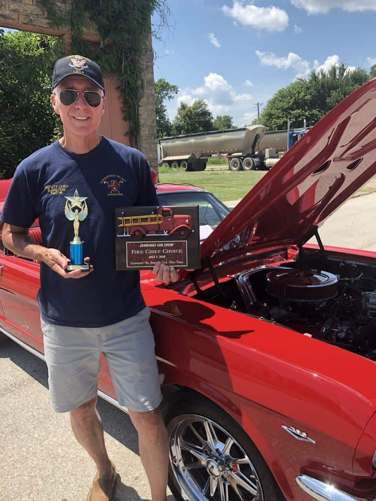 Chief Bobby Halton and his 1966 Mustang.