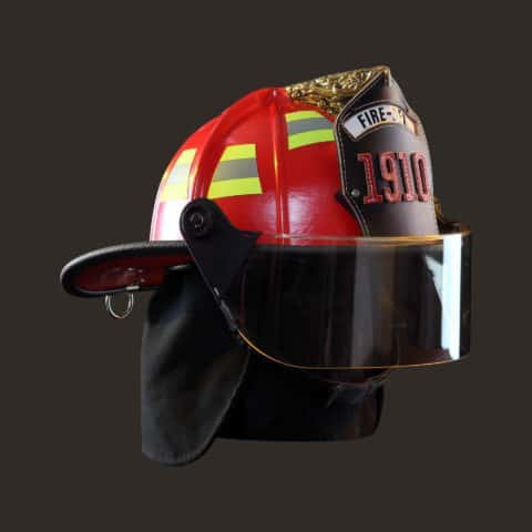 Fire-Dex 1910 Traditional Helmets Red Front
