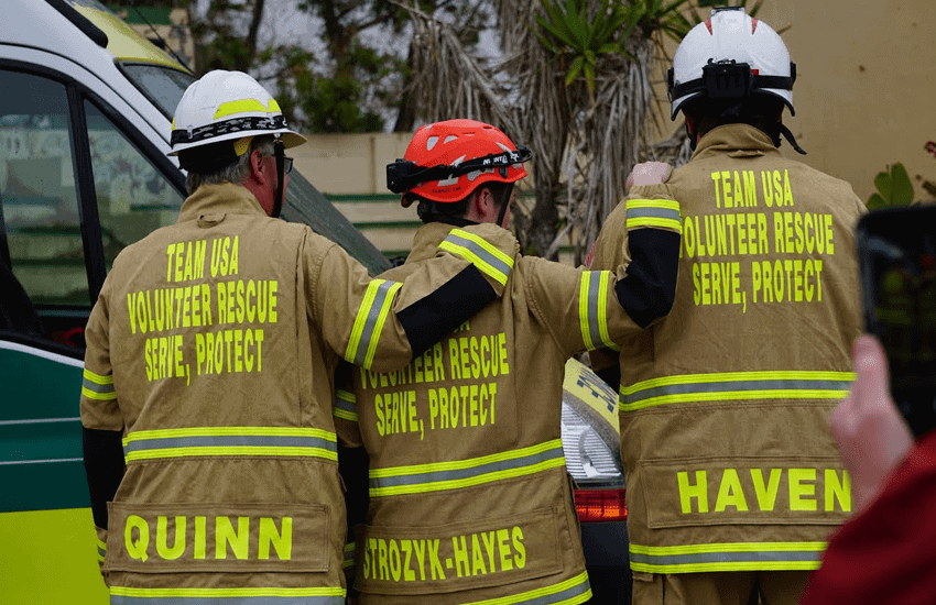 international rescue training exercise in Malta
