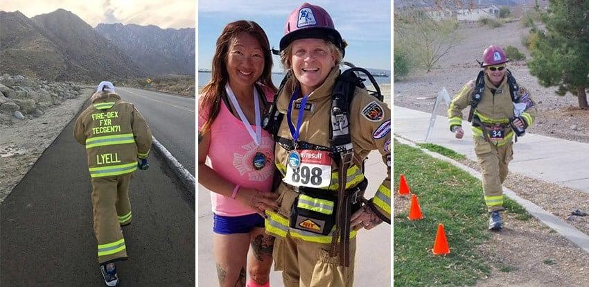 Firefighter and Marathon Runner Edward Lyell Collage