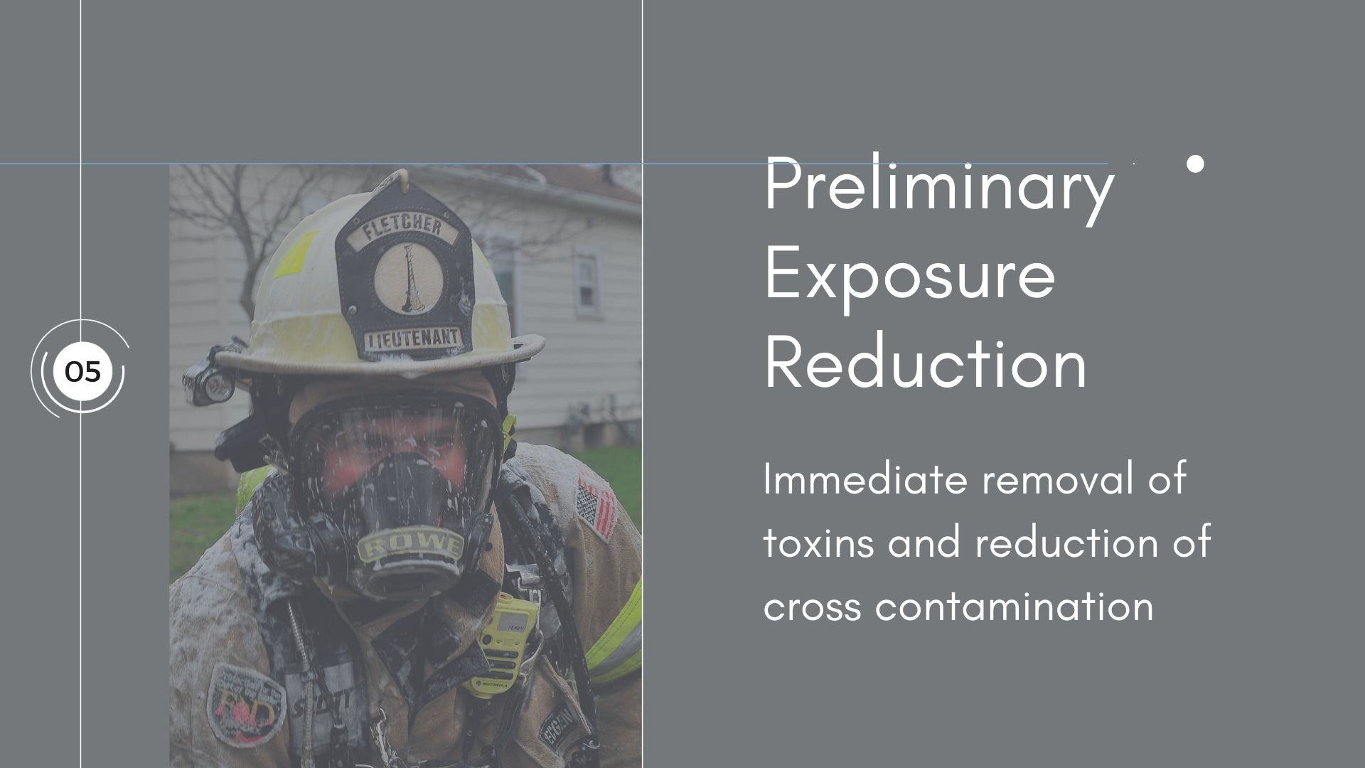 NFPA 1851- Preliminary Exposure Reduction Section