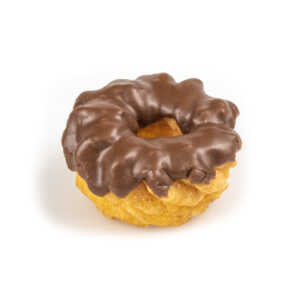 Iced Cruller with Chocolate Frosting