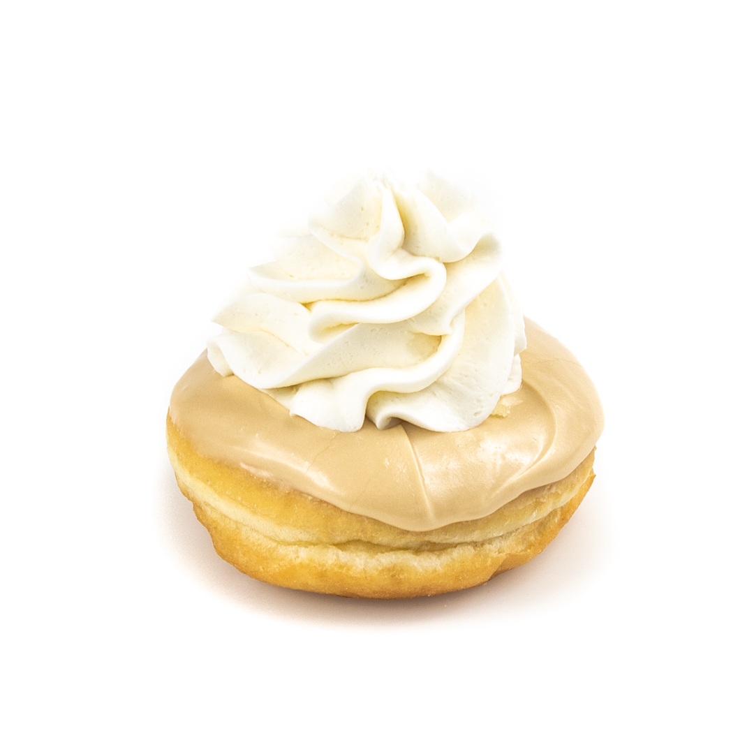 Maple Iced White Cream Donut