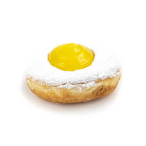 Powdered Sugar Lemon Donut