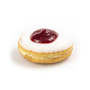 Raised Donut With Strawberry Jelly