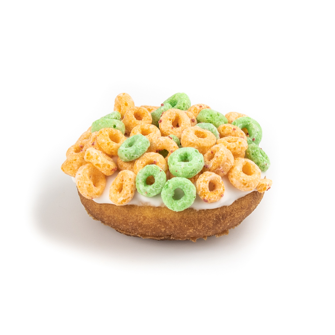 Apple Jacks Cereal Frosted Cake Donut